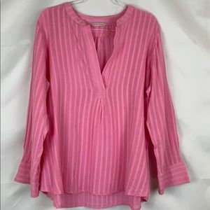Soft Surroundings pink gauze tunic